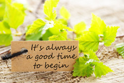 Good time to begin sign