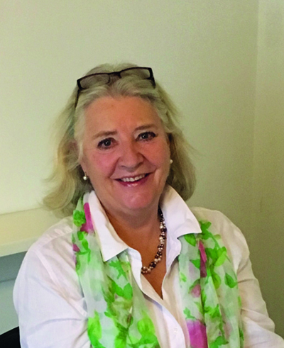 Caraniosacral practitioner Caroline Lawrence
