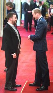 Jonny Benjamin receives his MBE