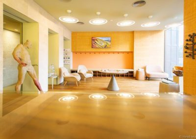 Welcome lobby at Avalon wellbeing centre at Hoffman Process venue Broughton Hall