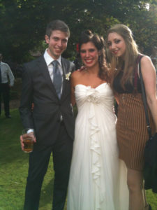 Melissa at her wedding in 2013 with her siblings Alix and Michael.