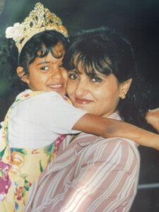 Sara with her Mum